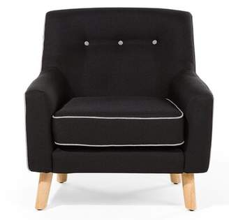 Home Loft Concepts Hjo Armchair Home Loft Concepts Upholstery Color: Dark Gray/White