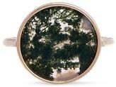 Astley Clarke 'Moss Agate Venus' diamond 14k gold ring