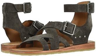 Trask Roxanne (Gray Oiled Italian Suede) Women's Sandals