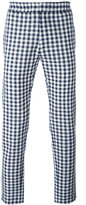 MSGM checked tapered trousers - men - Cotton - 46