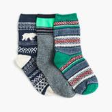 J.Crew Boy's Fair Isle polar bear socks three-pack