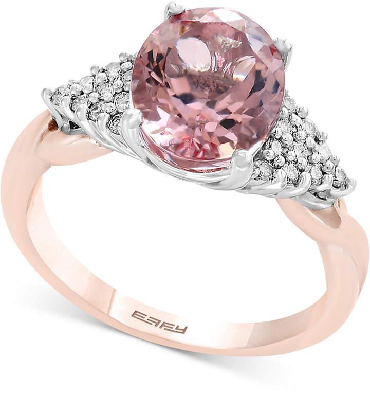 Effy Blush by Morganite (2-1/2 ct. t.w.) & Diamond (1/6 ct. t.w.) Ring in 14k Rose Gold