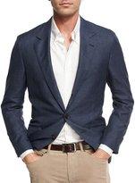 Brunello Cucinelli Wool-Blend Twill Jacket, Denim