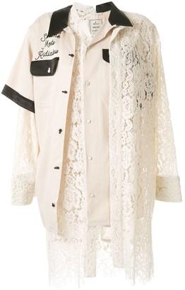 Maison Mihara Yasuhiro Lace Patchwork Shirt