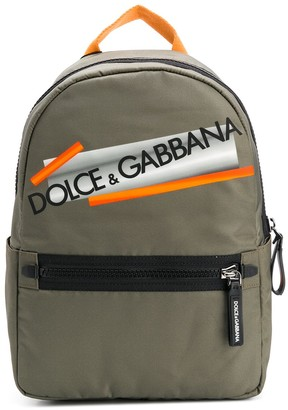 Dolce & Gabbana Kids Logo Print Backpack