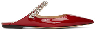 Jimmy Choo Red Patent Bing Mules