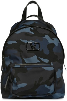 Valentino CAMO PRINT TECH NYLON BACKPACK