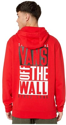 Vans New Stax Pullover Hoodie (Racing Red) Men's Clothing