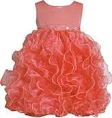 Bonnie Baby Bonnie Jean Little Girls Cascade Organza Dress