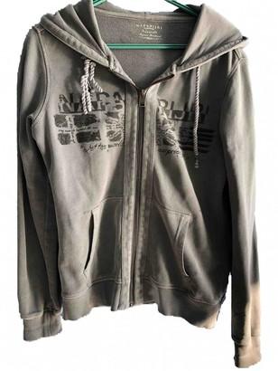 Napapijri Grey Cotton Leather Jacket for Women