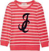 Juicy Couture Striped cotton-blend terry top