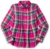 Ralph Lauren Girls 7-16 Plaid Blouse