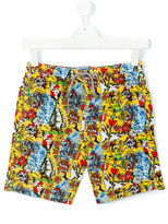 MC2 Saint Barth Teen tattoo print swim shorts - kids - Polyamide/Polyester/Spandex/Elastane - 14 yrs