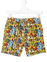 MC2 Saint Barth Teen tattoo print swim shorts - kids - Polyamide/Polyester/Spandex/Elastane - 14 yrs