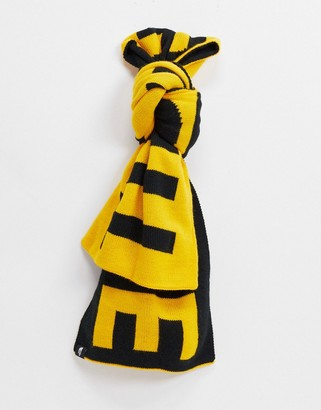The North Face Logo scarf in yellow/black