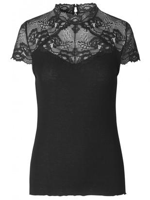 Rosemunde 4587 Silk T Shirt In Black - XL