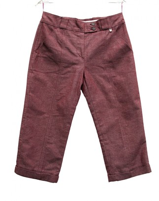 Louis Vuitton Burgundy Cotton Trousers