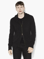 John Varvatos Cashmere Hooded Sweater