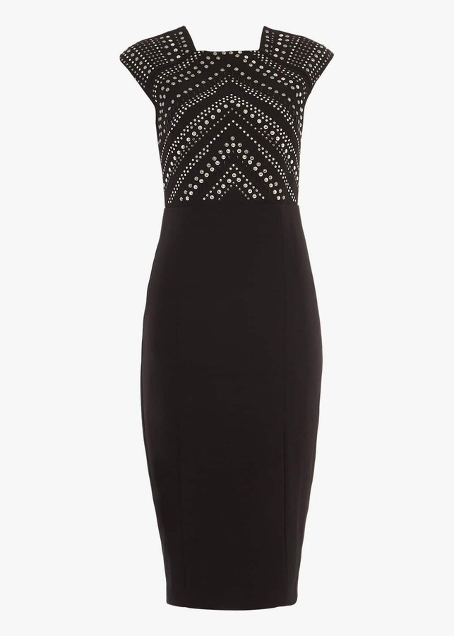 Thumbnail for your product : Phase Eight Talin Stud Detail Dress