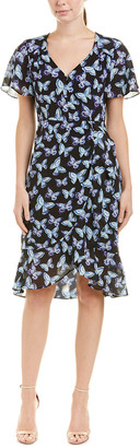 Nanette Lepore Mariposa Silk Midi Dress