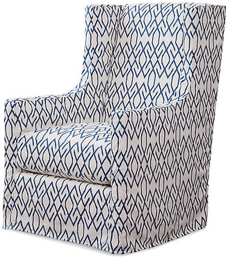 Imagine Home Charlie Swivel Chair - Blue/White