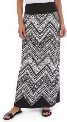 Apt. 9 Women's Double Border Printed Column Maxi Skirt