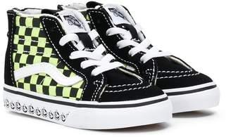 Vans Kids checkerboard hi-top sneakers