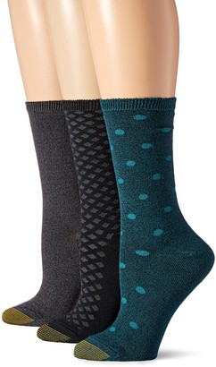 Gold Toe Women's Ultra Soft Dot Texture Crew 3 Pack