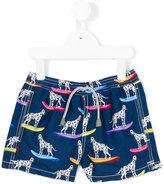 Mc2 Saint Barth Kids dog print swim shorts