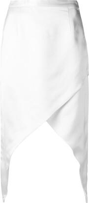 Adriana Degreas Asymmetric Midi Skirt