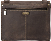 Visconti Brown Two-Compartment Leather Messenger Bag