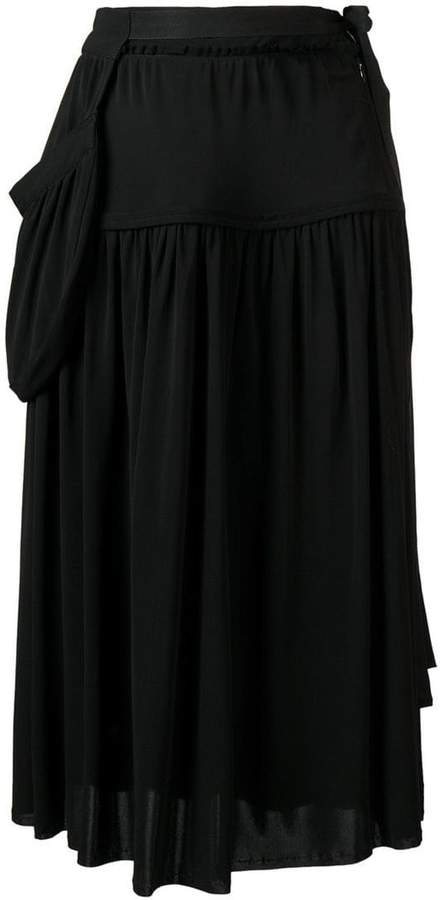 J.W.Anderson draped midi skirt