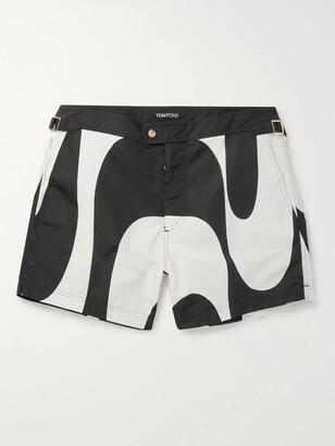 Tom Ford Slim-Fit Short-Length Printed Swim Shorts