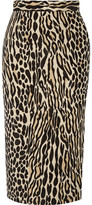 By Malene Birger Algras Leopard-Jacquard Pencil Skirt