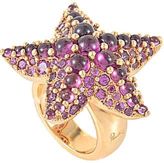 Pomellato 18K Rose Gold Rhodolite Starfish Ring