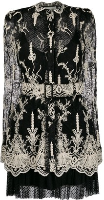 Alexis Fitted Scalloped Lace Detail Dress