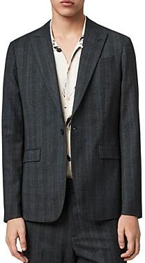 AllSaints Tonal Plaid Slim-Fit Blazer