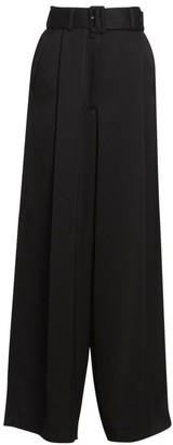 Dries Van Noten Wide-Leg Belted Suit Pants
