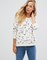 Maison Scotch Peace Long Sleeve Sweater