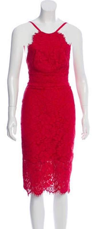 Lover Midi Lace Dress Red Midi Lace Dress