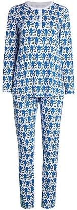 Roller Rabbit Monkey Print 2-Piece Pajama Set