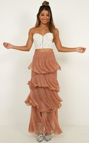 Showpo Storms and Saints Skirt in rose gold mesh - 4 (XXS) A-Line