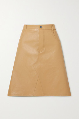 Bottega Veneta Leather Skirt - Beige