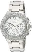 Kensie Women's Quartz Metal and Alloy Casual Watch, Color:Silver-Toned (Model: KEN5095)