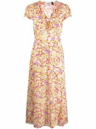 Rixo Jenna floral-print dress