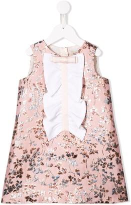 Hucklebones London Floral Embroidered Shift Dress