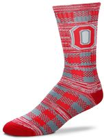 For Bare Feet Adult Ohio State Buckeyes Double Plaid Crew Socks