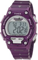 Timex Women's Ironman T5K558 Purple Resin Quartz Watch with Dial
