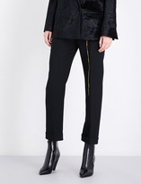 Haider Ackermann Calder straight cropped high-rise wool trousers