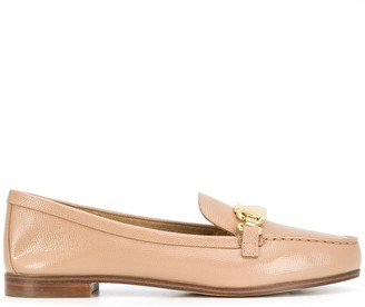 MICHAEL Michael Kors Chain-Embellished Leather Loafers